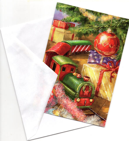 Christmas Train Gifts Holidays Wishes Greeting Card Marry Christmas