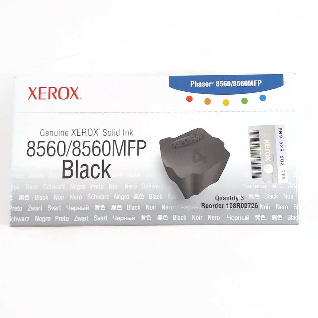 Genuine Xerox 108R00725 8560/8560MFP Black Solid Ink Sticks, Pack Of 3  - NEW