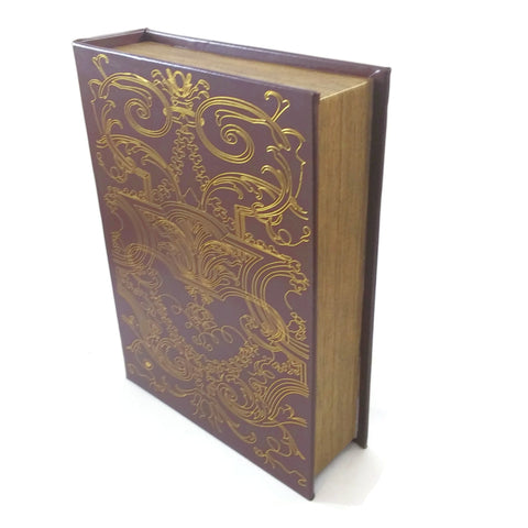 DVD/CD/Blu-Rays Storage Binder Old World Book Box Persian - NEW