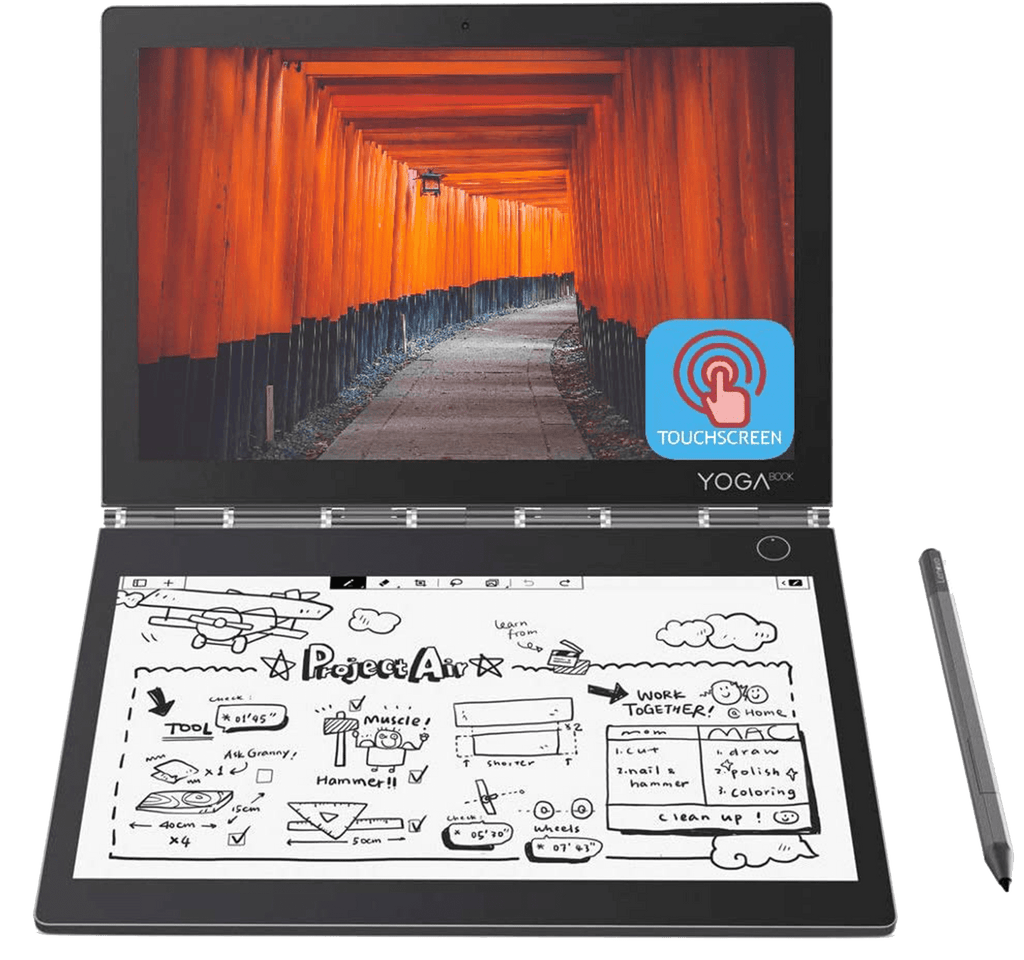"Laptop 2 in 1 Lenovo YogaBook 2 C930 Dual-Display 10.8"" QHD Touch Core i5-7Y54 4GB 256GB SSD E-Ink"