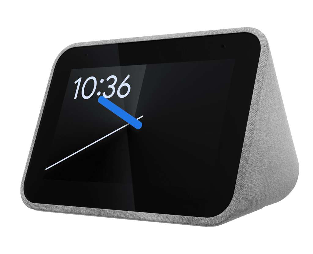 Ceas inteligent Lenovo Smart CLOCK cu comenzi vocale Google Assistant