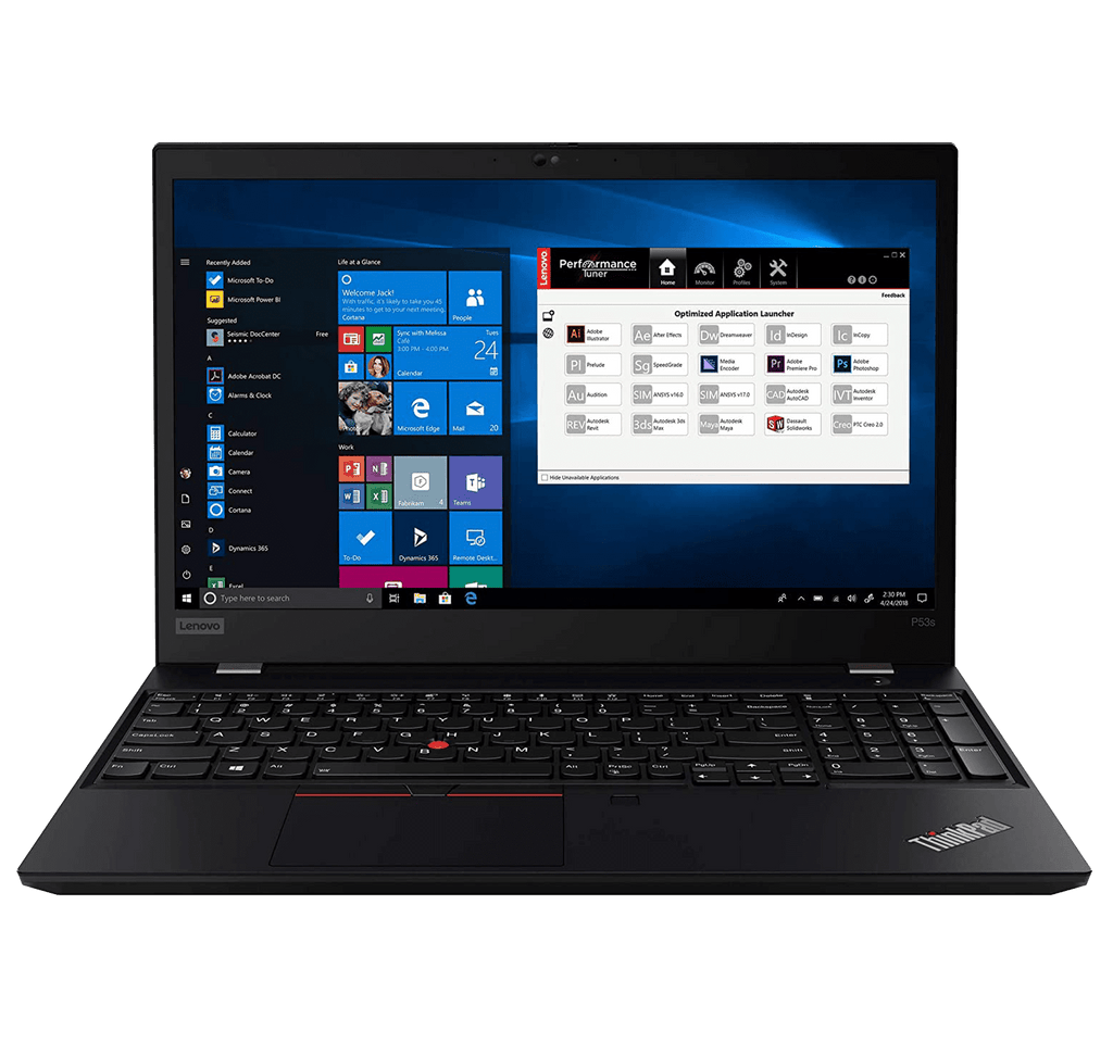 "Ultrabook Lenovo ThinkPad P53s WorkStation 15.6"" UHD i7-8565U 16GB Quadro P520 512GB SSD Win 10 Pro"