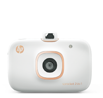Camera Foto instant + imprimanta HP Sprocket 2-in-1 Alb cu Hartie Zink + Card 8GB
