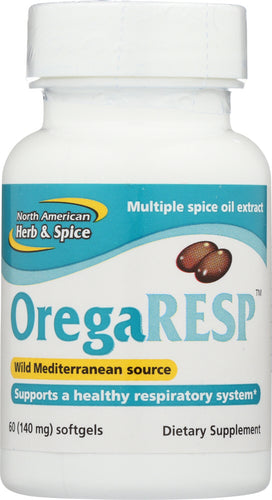 NORTH AMERICAN HERB & SPICE: OregaResp 140 mg, 60 Softgels