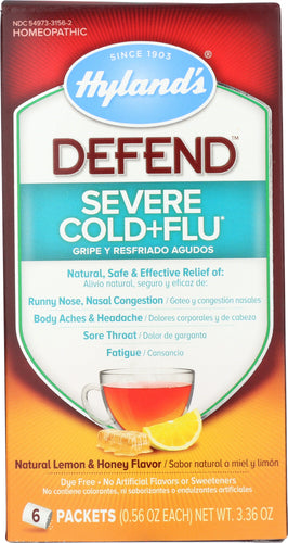 HYLAND: Defend Severe Cold and Flu, 6 packs