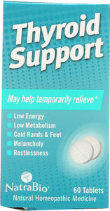 NATRA BIO: Homeopathic Thyroid Support, 60 Tablets