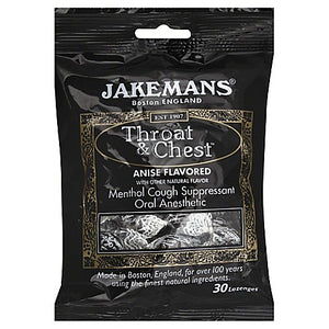 JAKEMANS: Lozenge Throat and Chest Anise Menthol, 24 pc