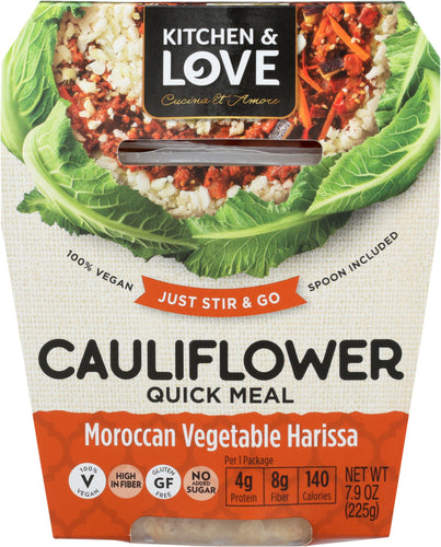 CUCINA & AMORE: Meal Cauliflower Moroccan Vegetable Harissa, 7.9 oz
