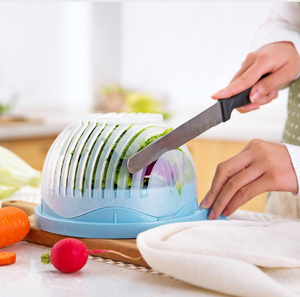 60 Second Salad Cutter Bowl Kitchen Gadget Vegetable Chopper Washer And Cutter Quick Salad Maker Chopper Kitchen tool