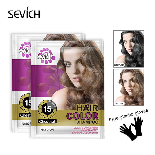 Sevich 25ml Practical Hair Color Wax Disposable Hair Dyeing Lotion DIY Hair Styling Coloring Molding Shampoo Hair Supplies TSLM2