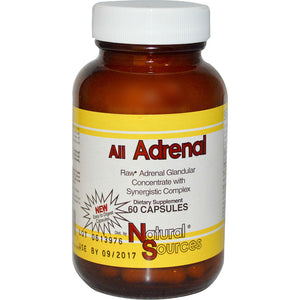 NATURAL SOURCES: All Adrenal, 60 Capsules