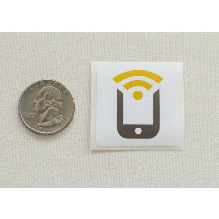 Logo Type 2 NFC Sticker - NTAG - White Square (35mm x 35mm) - 1+
