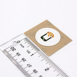 Round PET Tagstand Logo Sticker - NTAG215