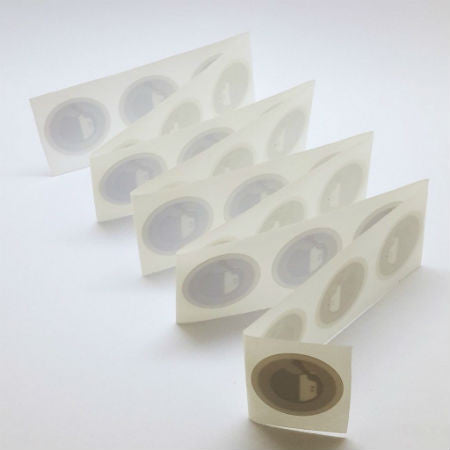 "25 Sample Stickers: The ""25-25-25"" Roll of NTAG213 Stickers (25mm circle)"