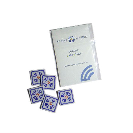 SparkMarks NFC Stickers (5 durable PVC stickers with Topaz 512)