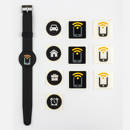 Tagstand NFC Sticker Pack (10 stickers) + Wristband - Tagstand NFC Sticker Pack + Wristband