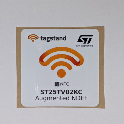 ST25TV02KC - Augmented ANDEF NFC Sticker- 50x50mm