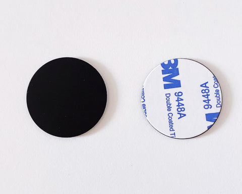 NFC Guard Tour Token black ON-METAL with adhesive - NTAG213 - 30mm round