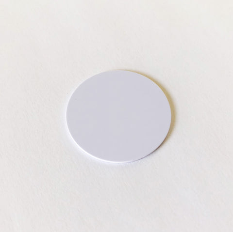 Blank white PVC token - NTAG215 - 30mm dia