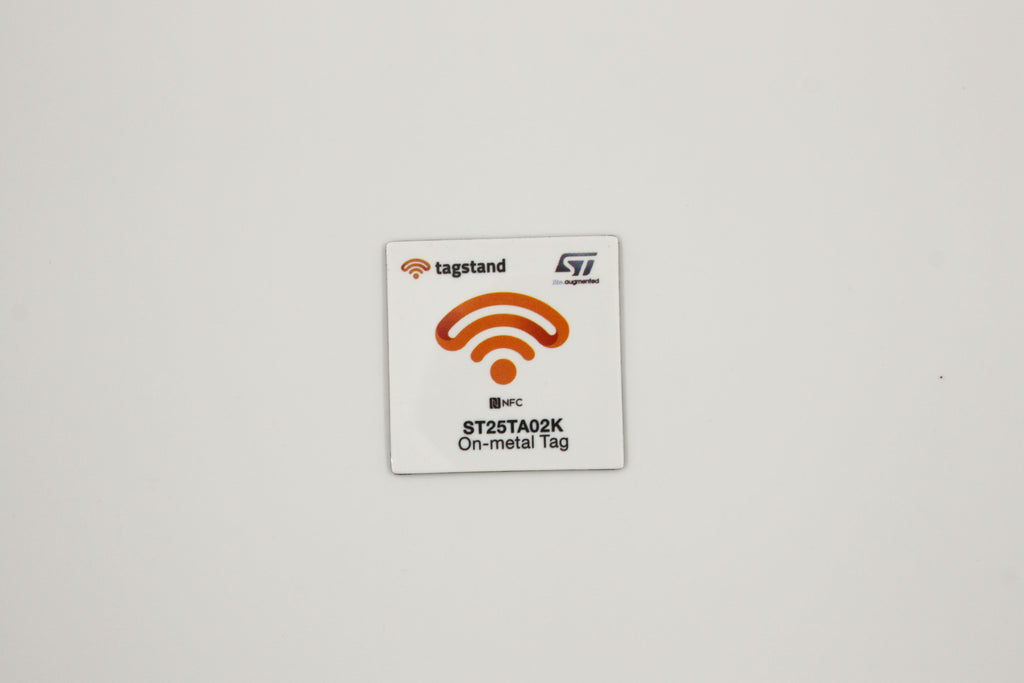 ST by Tagstand - Type 4, On-metal PET Sticker - 30mm square