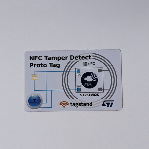 ST25TV02K Tamper-detect Prototype Tag with manual switch and external contacts
