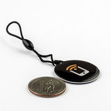 NFC Epoxy Hang Tag - - NTAG213 - Tagstand Black Logo - Circle 30mm