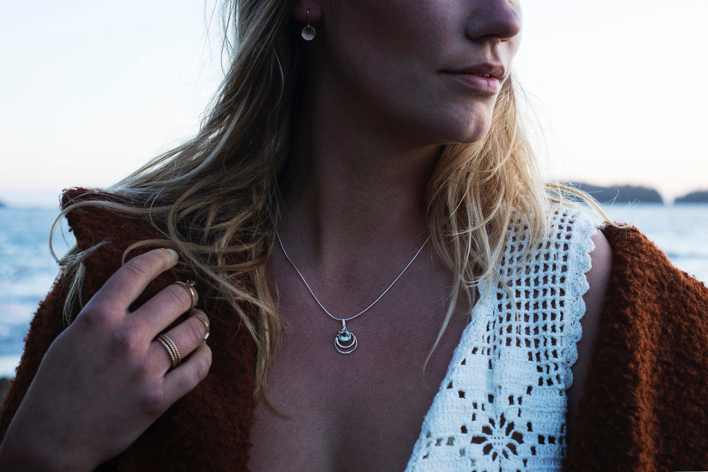 Jewellery handmade in Tofino BC, inspired by the west coast.