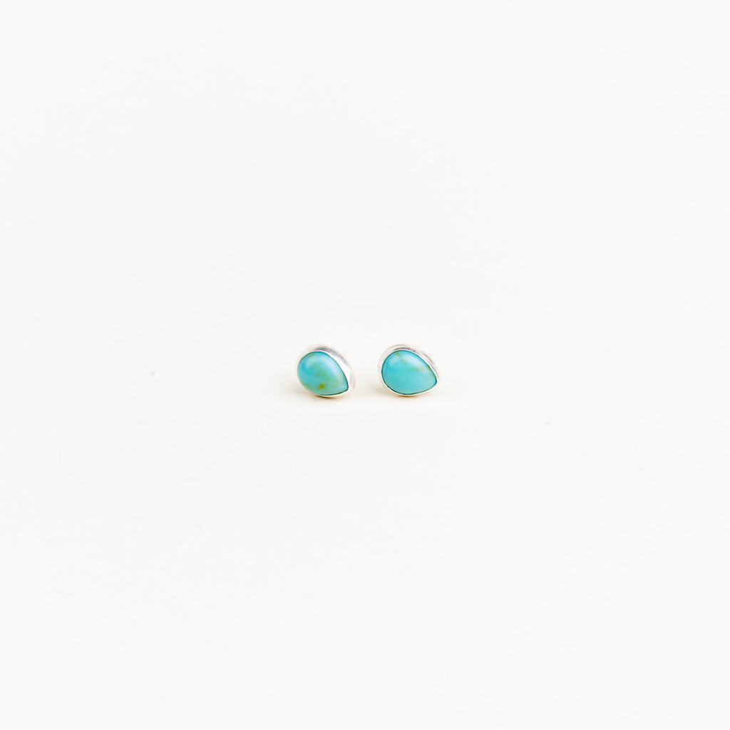Sterling Silver Teardrop Gemstone Teardrop Studs