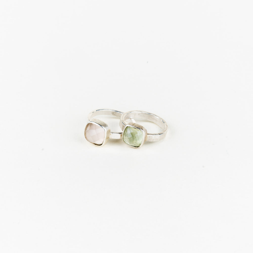 Square Gemstone Cocktail Ring