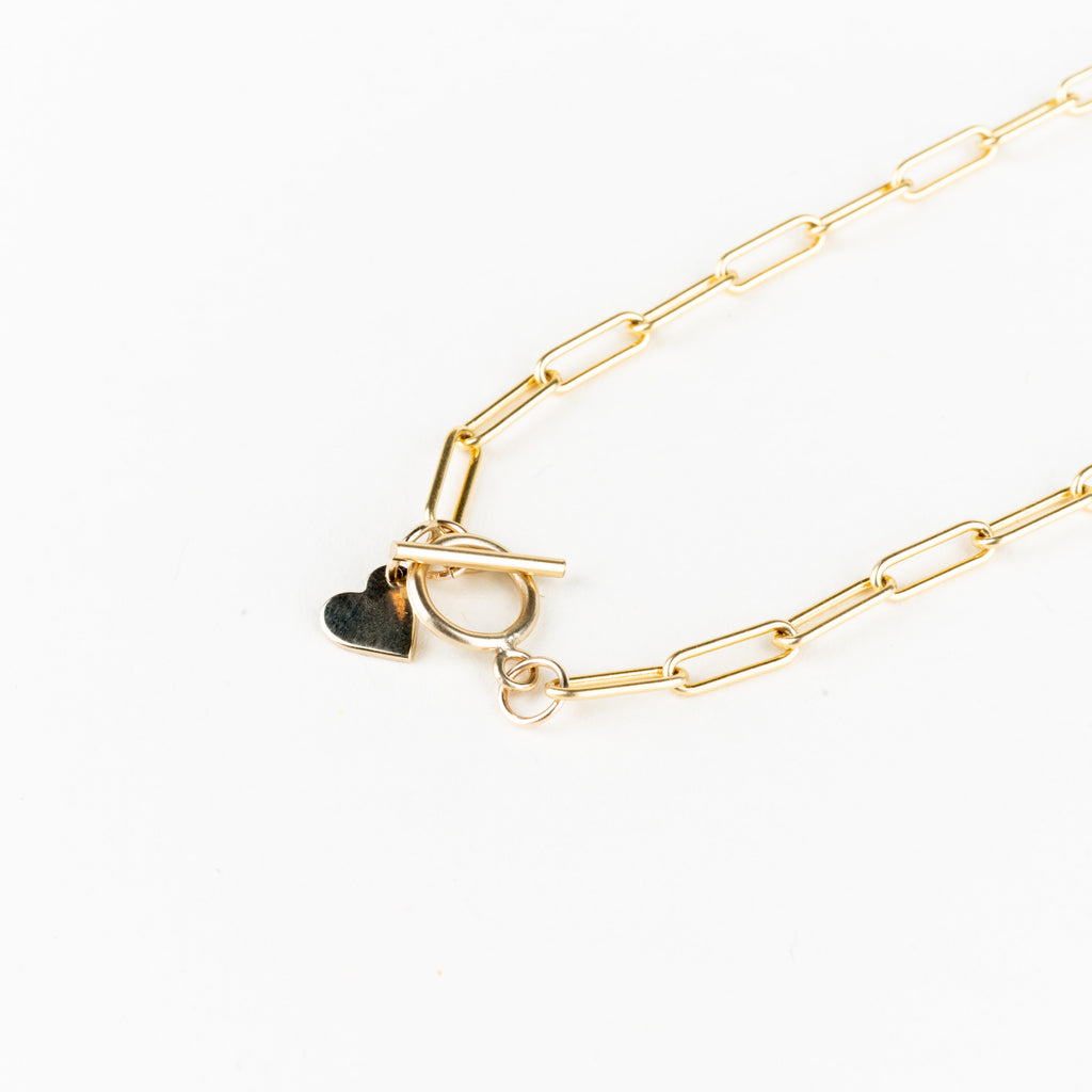 Calla Link Heart Necklace