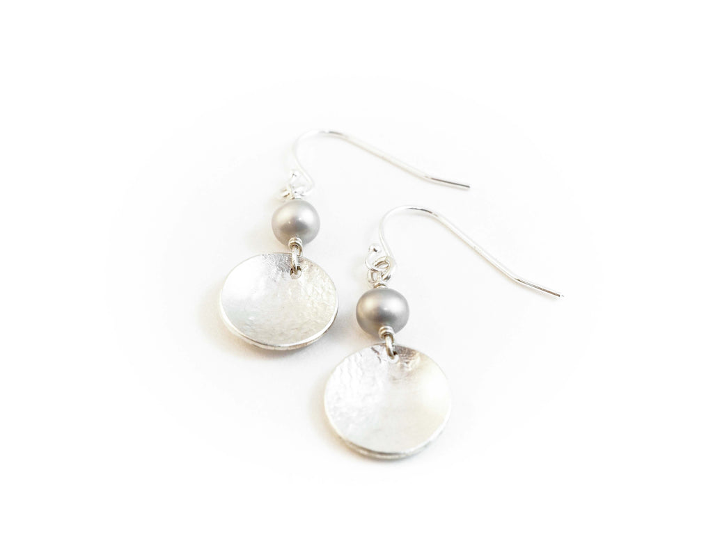 Pearl Dangle earrings. Jewellery handmade in tofino bc