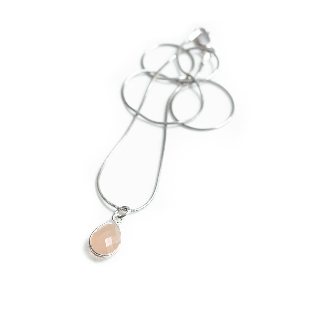 Rose Quartz Tear Necklace