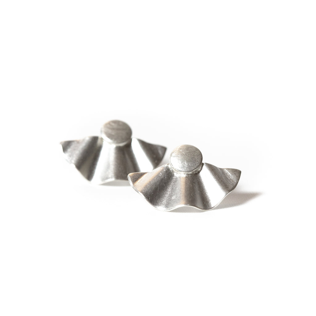 tallie button studs in sterling silver