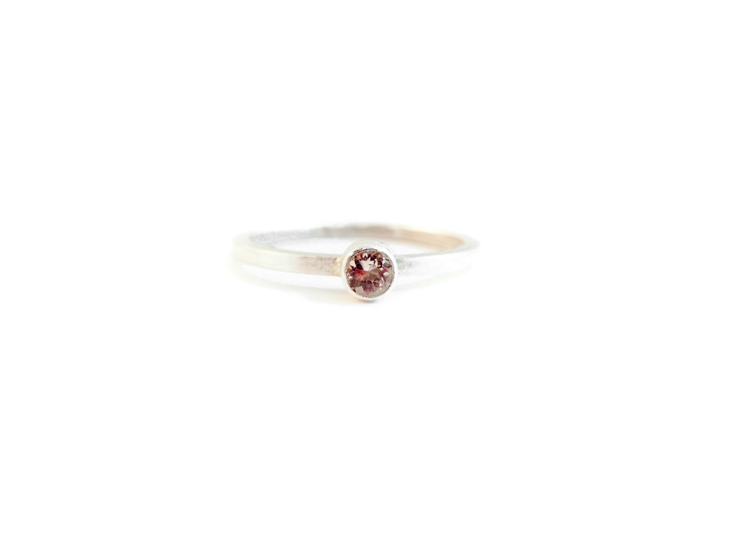 morganite cocktail ring in sterling silver handmade in tofino