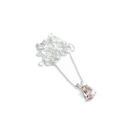Tear Shaped Morganite Necklace