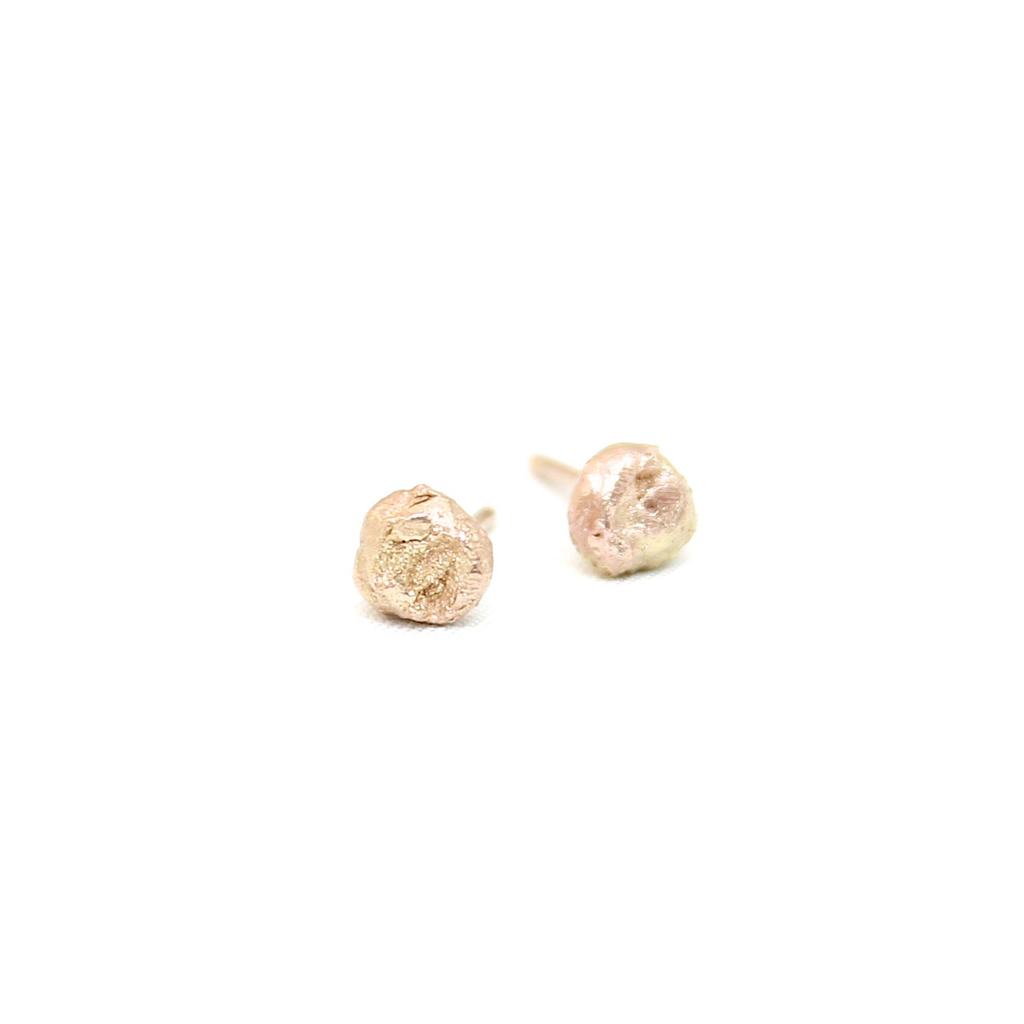 10k Gold Nugget Studs