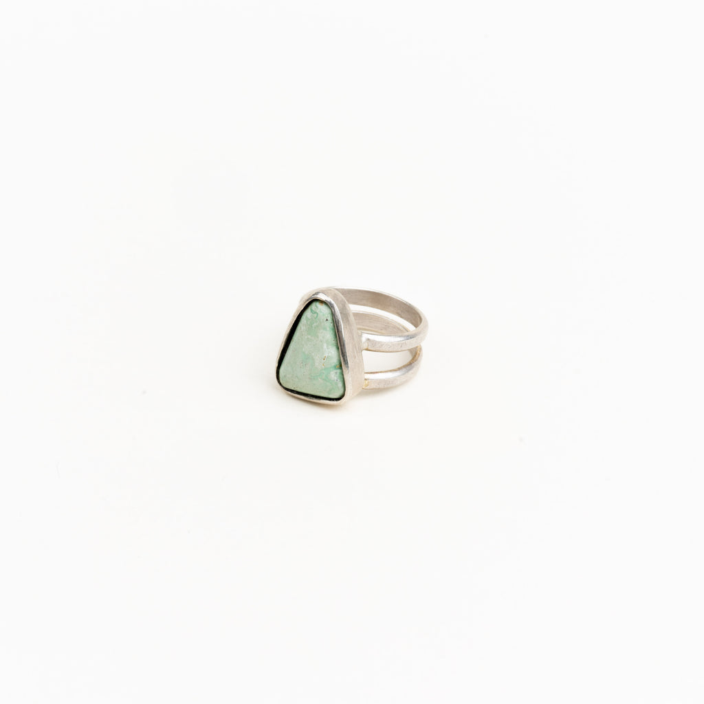 Burtis Blue Triangle Turquoise Ring
