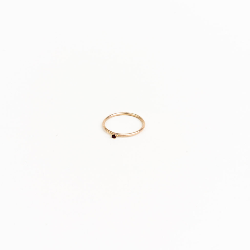 10k Gold Mini Gemstone Ring