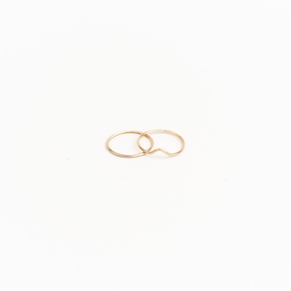10k V Thin Stacking Ring