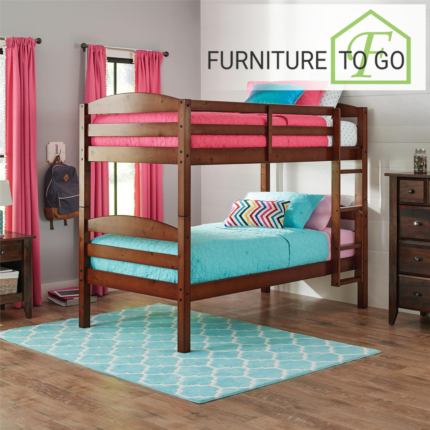 Clearance Furniture In Dallas 125 00 Cherry Twin Over Twin Wood Bunk