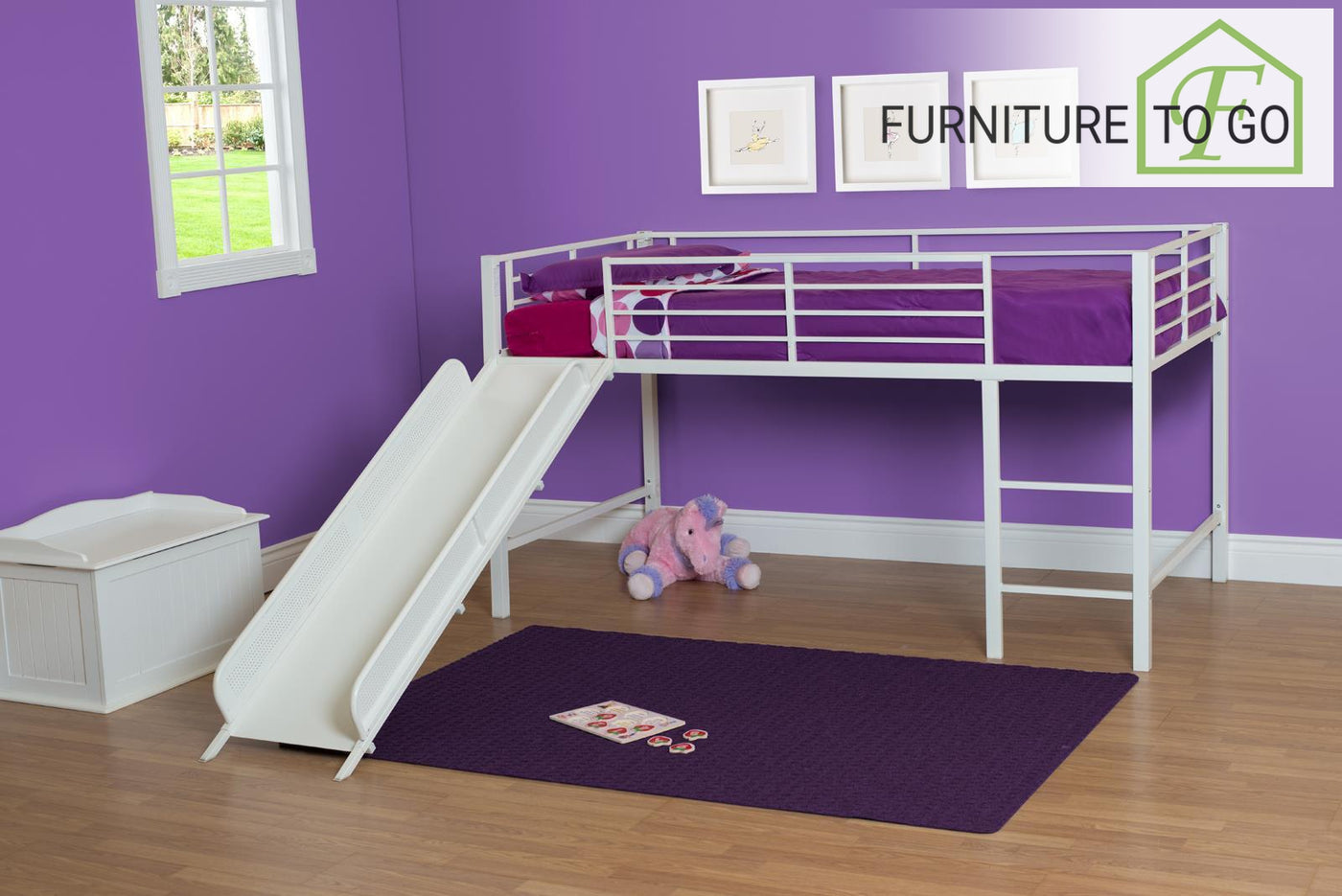 Clearance Furniture In Dallas 12500 White Twin Junior Loft Bed With