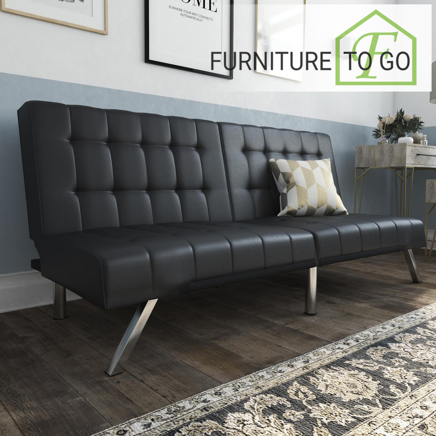 Clearance Furniture in Dallas 149.99 Black Leather – Furniture To Go