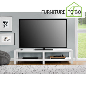 Tv Stands 40 00 White Low Profile Tv Stand For Tvs Up To 65in