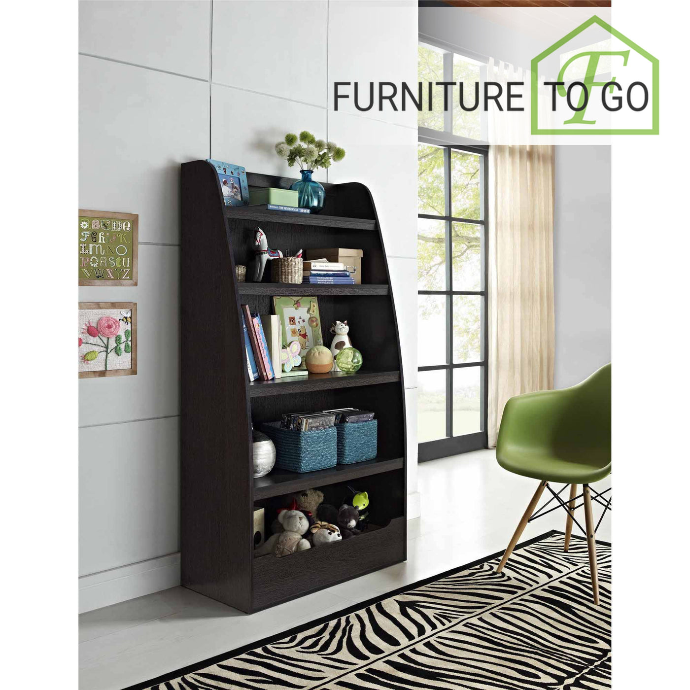 Clearance Furniture In Dallas 6000 Espresso Kids Bookshelf