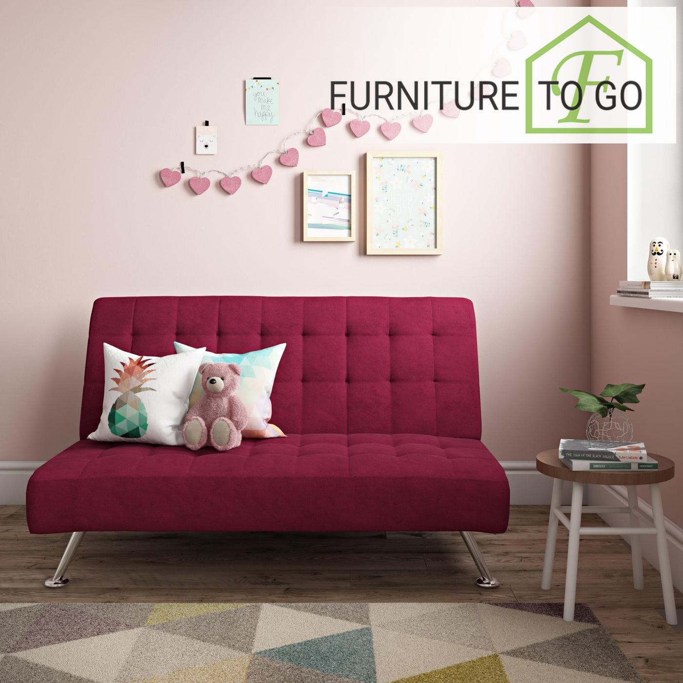 Pleasant Clearance Furniture In Dallas 60 00 Dhp Milo Kids Sofa Futon Pink Andrewgaddart Wooden Chair Designs For Living Room Andrewgaddartcom