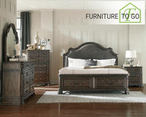 Dallas Furniture Store - Bedroom 204040KW-S5 CA KING 5PC SET (KW.BED,NS,DR,MR,CH) SETS
