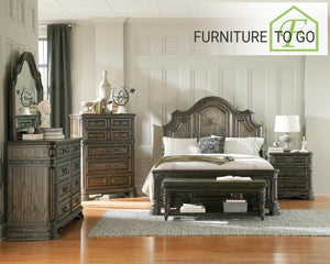 Dallas Furniture Store - Bedroom 204041KW-S5 CA KING 5PC SET (KW.BED,NS,DR,MR,CH) SETS