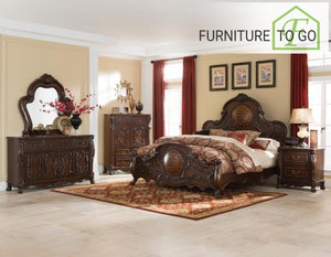 Dallas Furniture Store - Bedroom 204450KE-S5 E KING 5PC SET (KE.BED,NS,DR,MR,CH) SETS