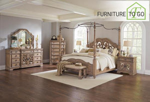 Dallas Furniture Store - Bedroom 205071KW-S5 CA 5PC SET W/205072 (KW.BED+NS+DR+MR+CH) SETS