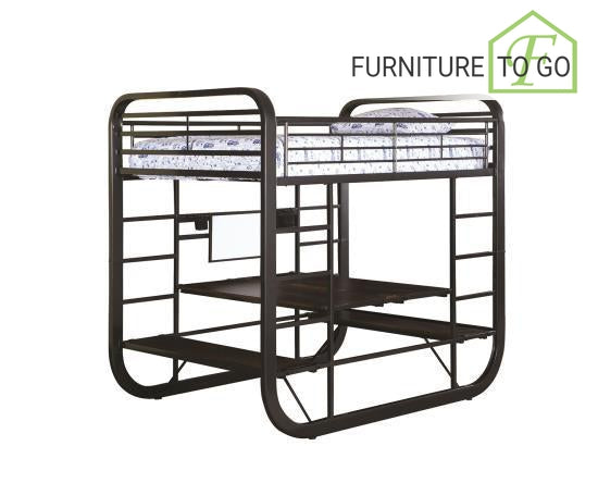 Dallas Furniture Store - Bedroom 400020F FULL WORKSTATION BUNK BED YOUTH BUNK BED
